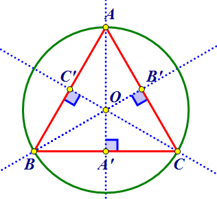 triunghi echilateral inscris in cerc equilateral triangle
