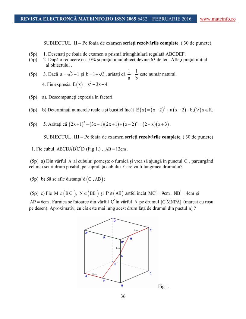 simulare evaluare na u021bional u0103 matematic u0103