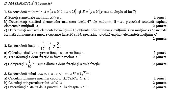 rezolvare subiect matematic u0103