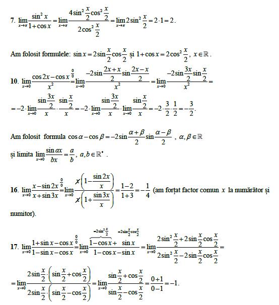 Limite trigonometrice - Forum matematică gimnaziu & liceu